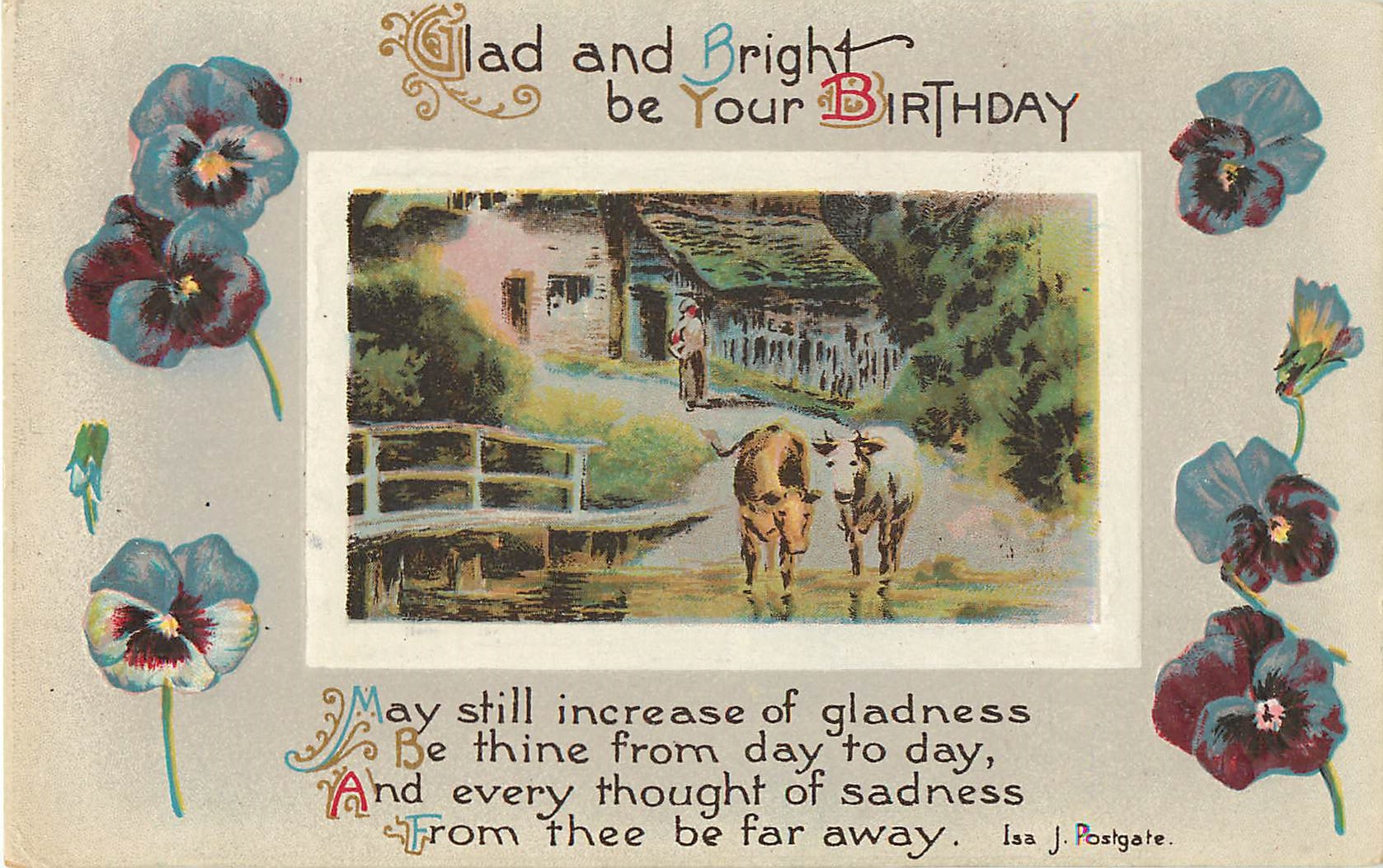 Glad and Bright Birthday Pansy