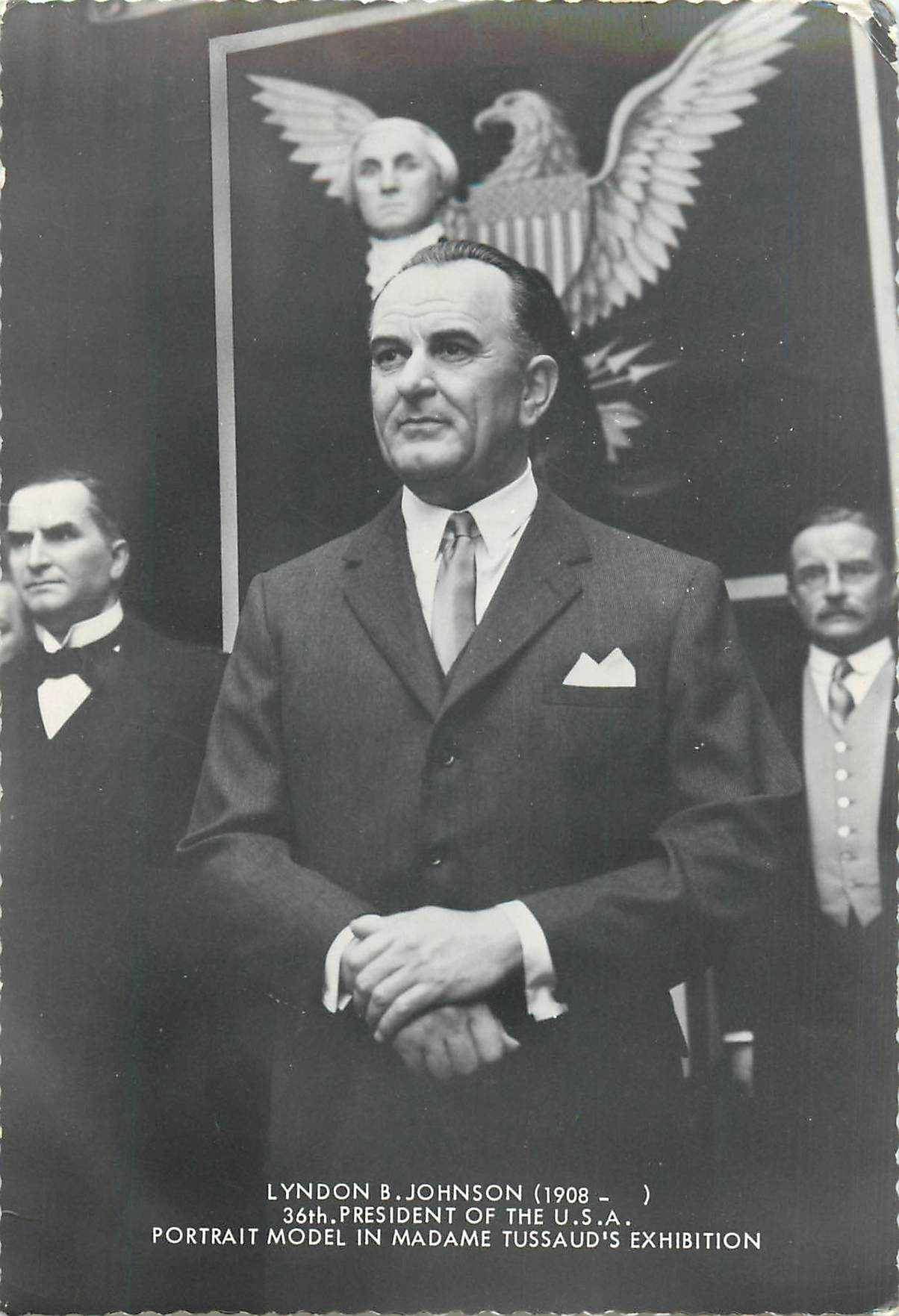 """Lyndon Johnson's Model at Madam Tussaud's"""