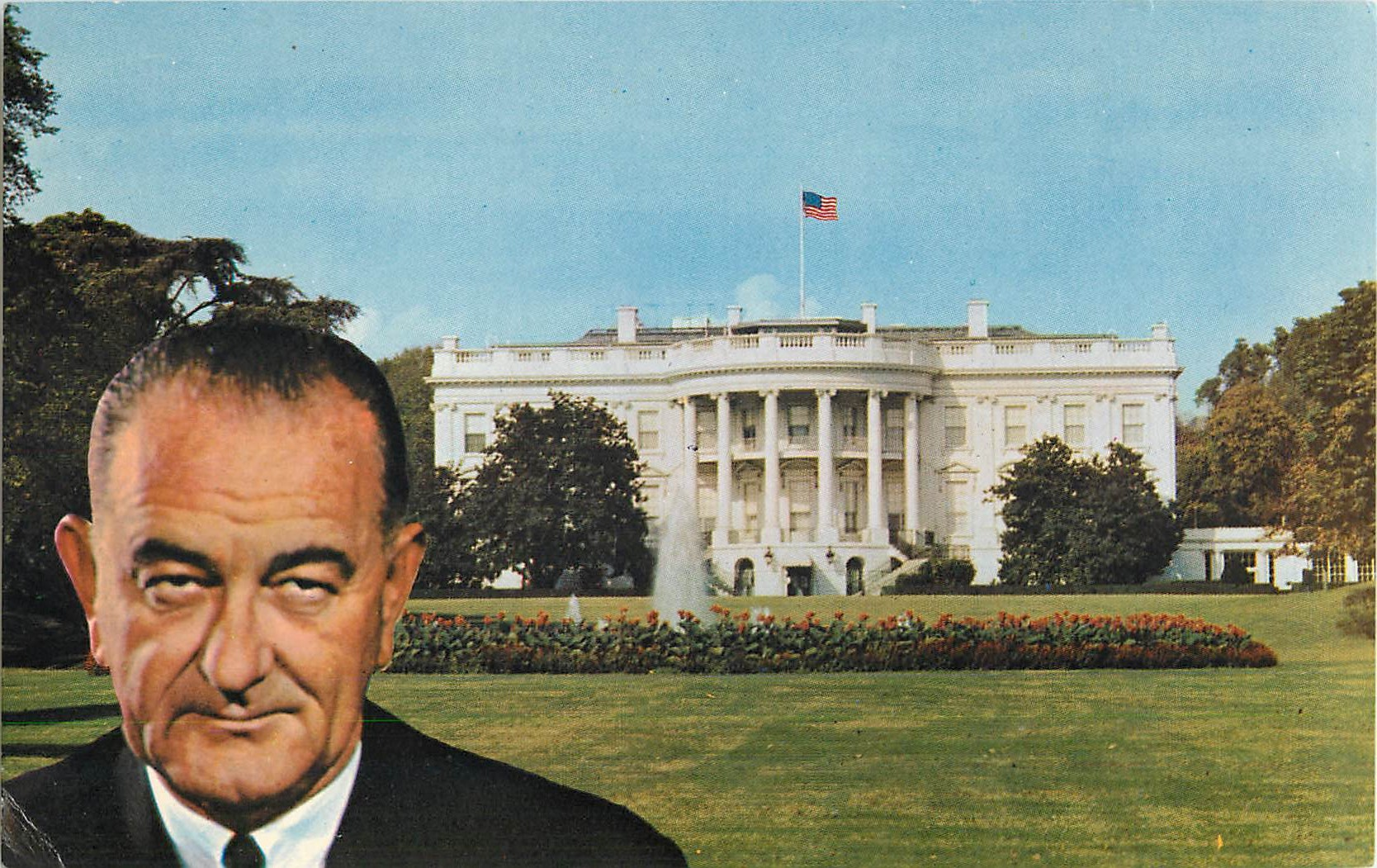 """The White House, Current home of Lyndon Johnson"""