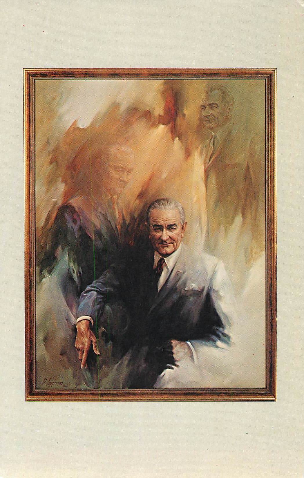 """Portrait of Lyndon Johnson - by Wayne Ingram"""