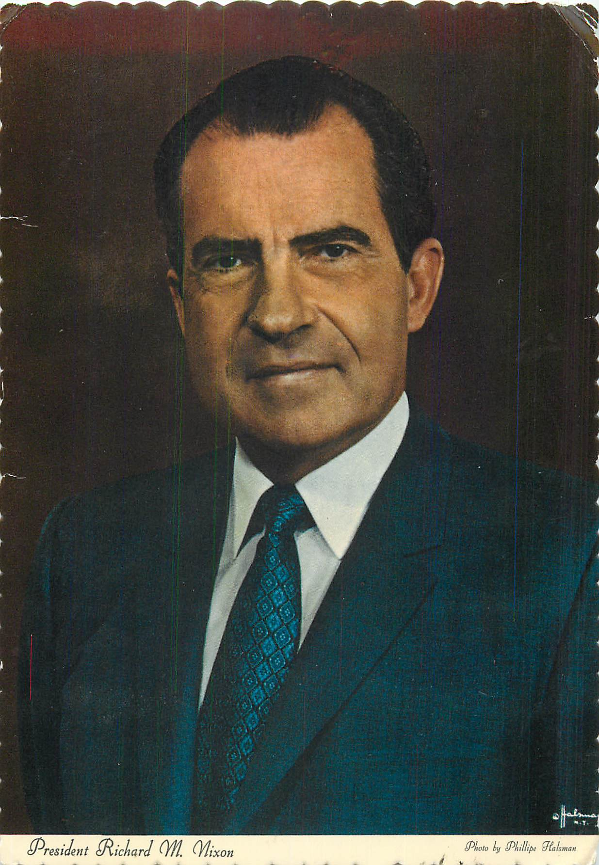 """President Richard Nixon - by Phillipe Halsman"""