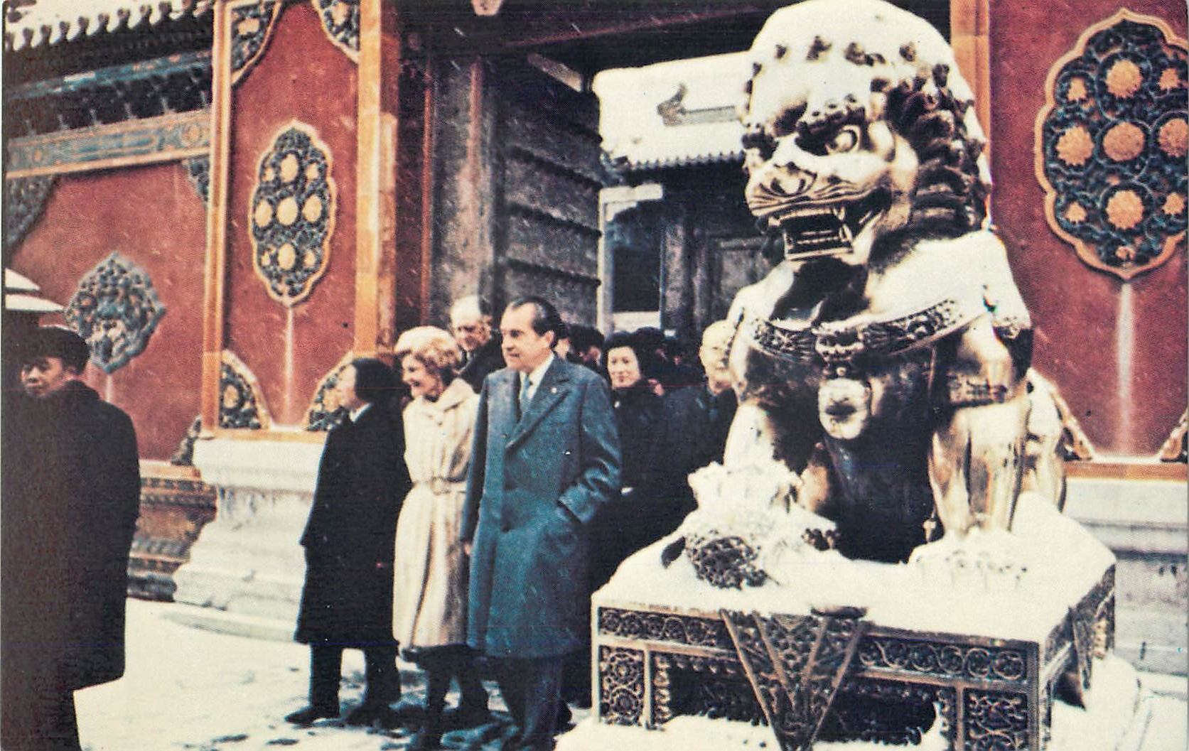 """Ex-President and Mrs. Nixon in Peking"""
