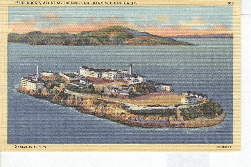 """The Rock"" Alcatraz Island, San Francisco Bay, California"