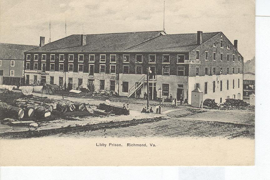 Libby Prison Richmond Virginia Black And White Photo