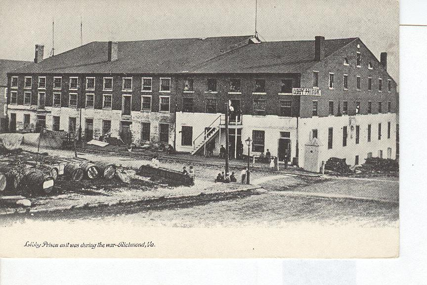 Libby Prison as it was during the war, Richmond Virginia