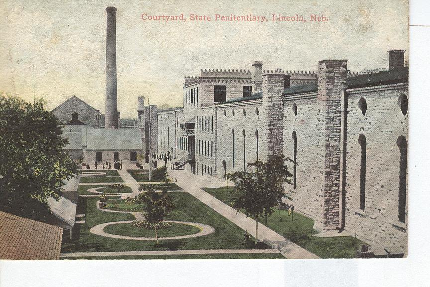 Courtyard of State Penitentairy in Lincoln Nebraska
