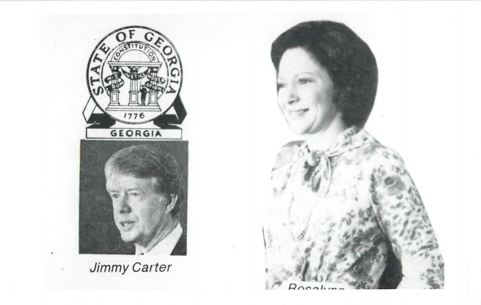 """Jimmy and Rosalynn Carter Real Photo Postcard"""