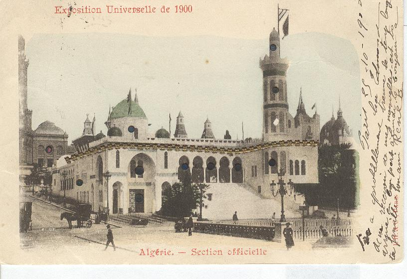 Exposition Universelle de 1900-Algerie-Section Officielle