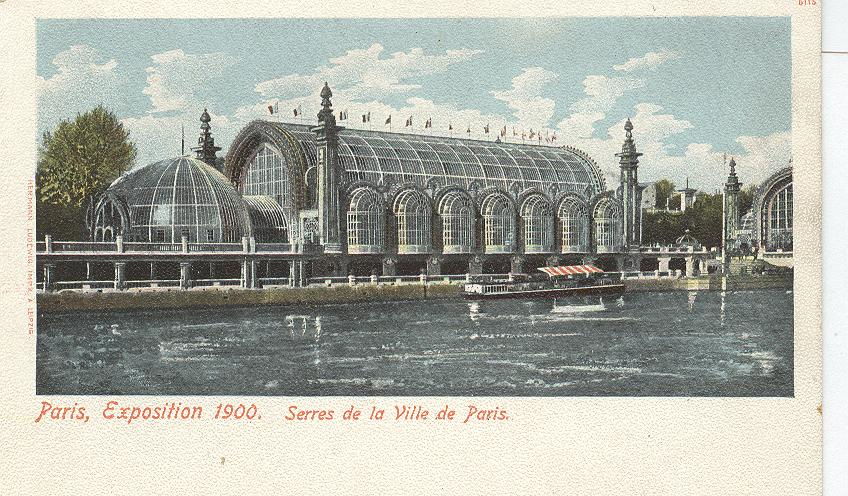 Paris, Exposition 1900. Serres de la Ville de Paris