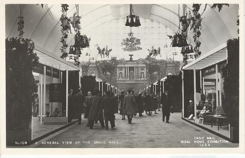 A General View of the Grand Hall Ideal Home Exhibition 1954