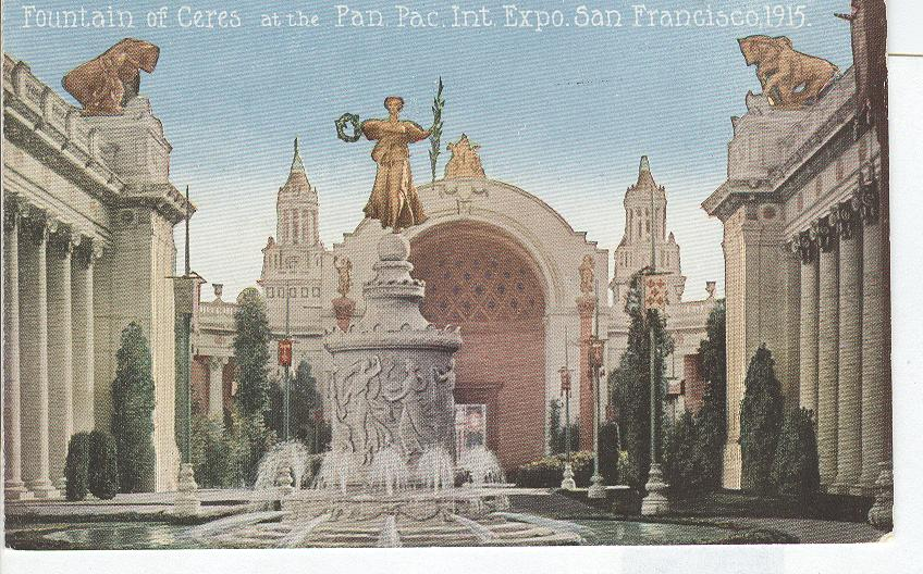 Fountain of Ceres at the Pan.Pac. Int. Expo San Francisco 1915