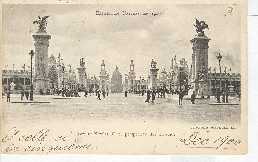 Exposition Universelle 1900 Avenue Nicles II Perspective1900