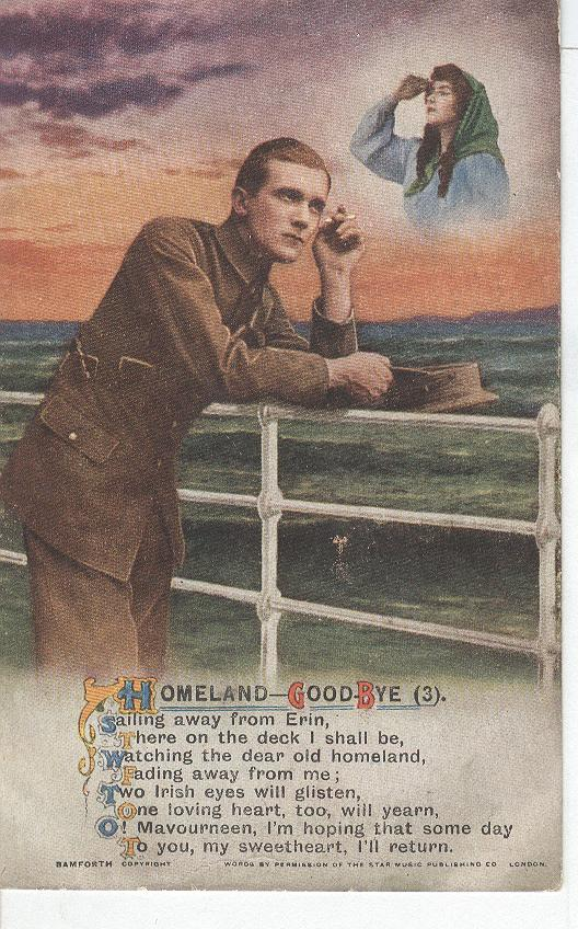 "World War 1 ""Homeland-Goodbye"" Story War Postcard"