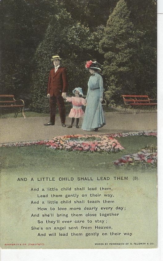 "World War 1 ""And A Little Child Shall Lead Them"" Story Postcard - Click Image to Close"