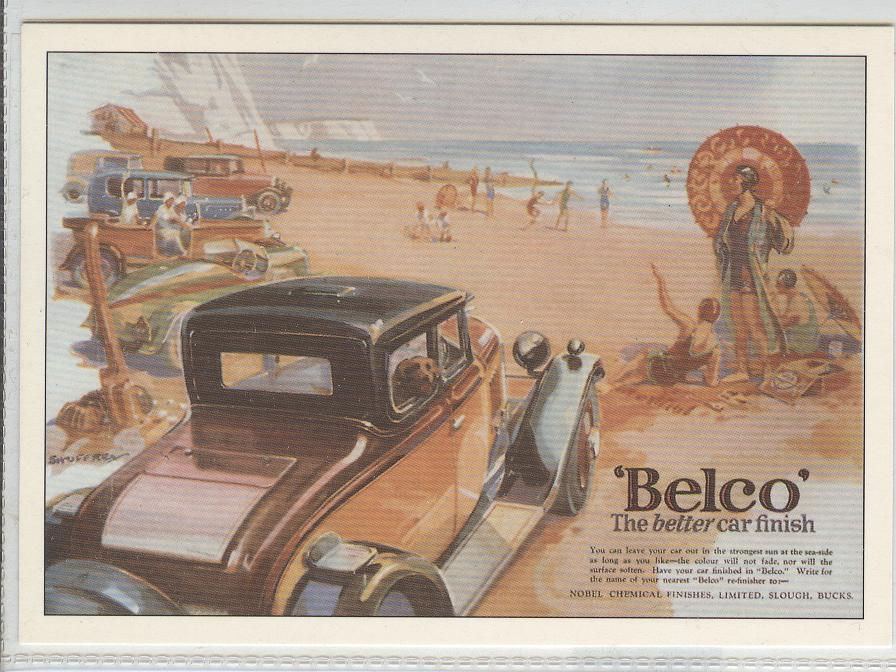 Belco Advertising Postcard, The Better Car Finish