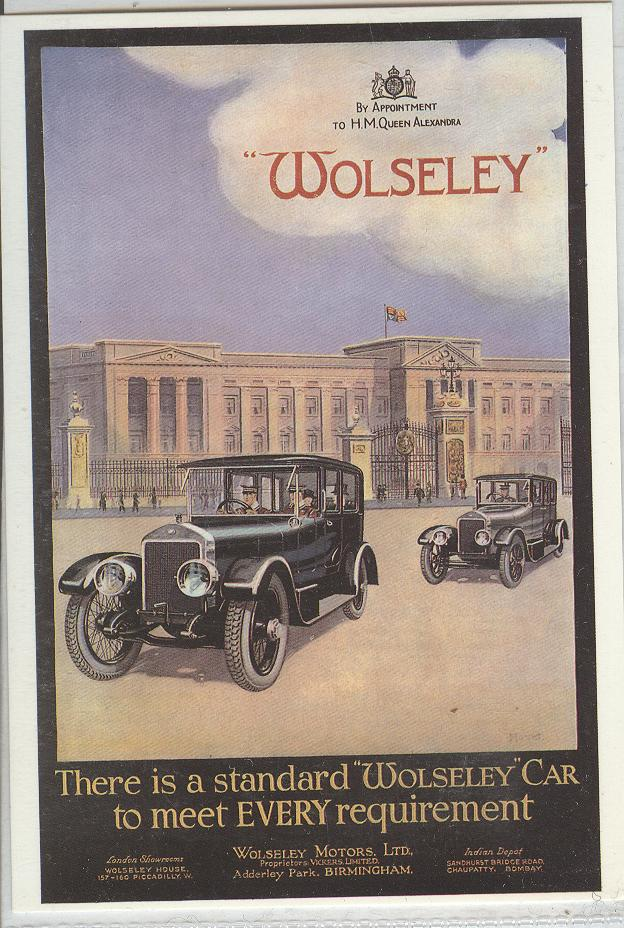 "There is a standard ""Wolseley"" car to meet EVERY requirment"
