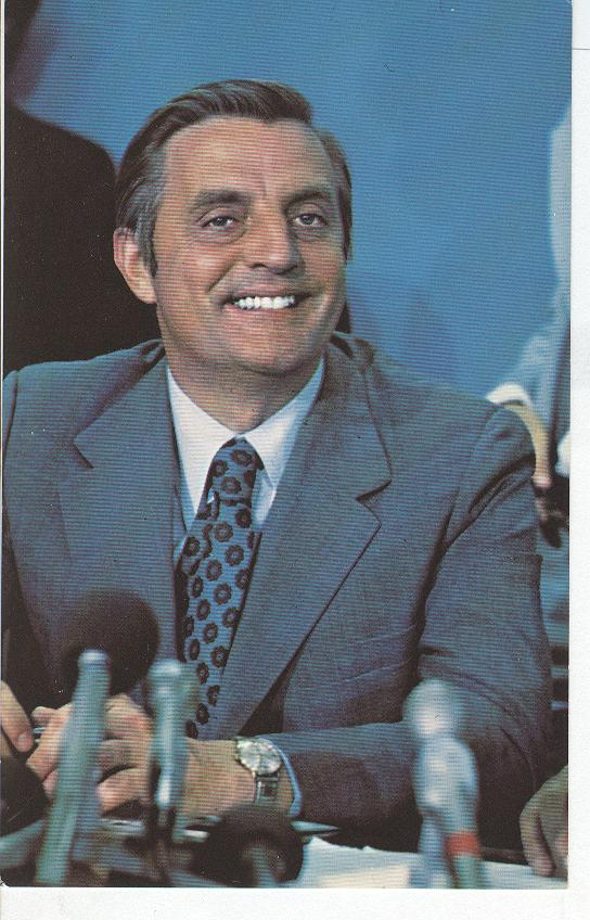 "Walter ""Fritz"" Mondale at his press conference, August, 1976"