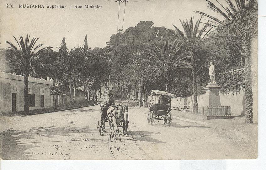 Algeria- Mustapha Superieur- Rue Michelet...Horse & Wagon