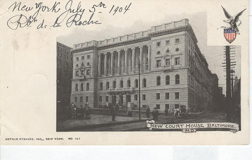 Photo of Court House Baltimore, M.D. 1904