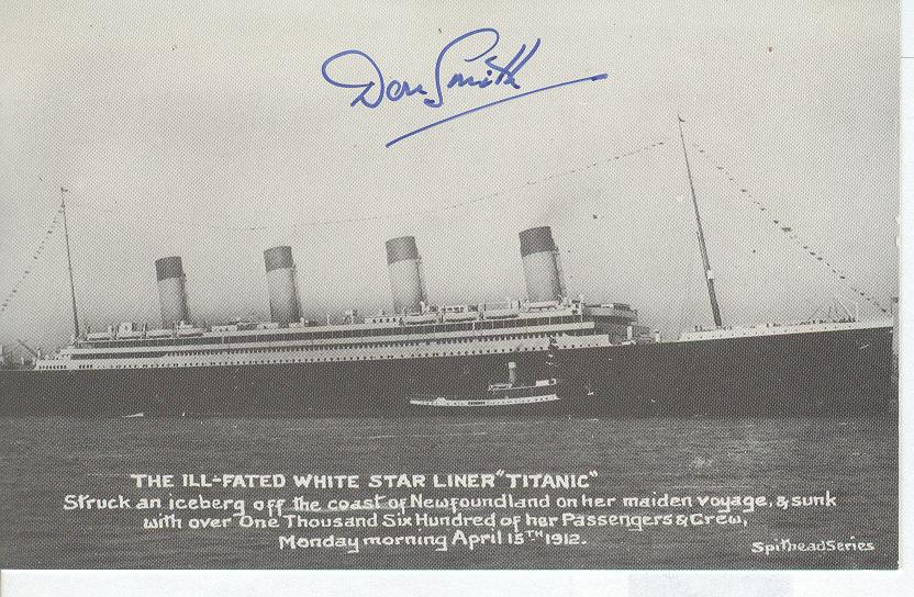 Titanic Personally Autographed By Donald Smith