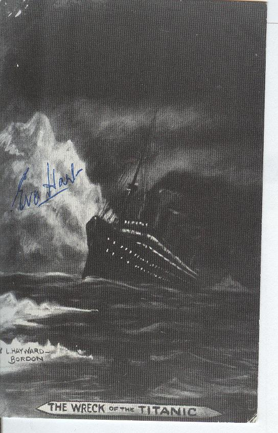 Titanic Personally Autographed By Miss Eva Hart M.B.E J.P.