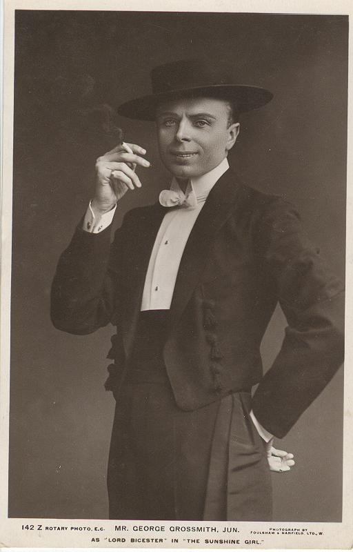 "Mr. George Crossmith, Jun. As ""Lord"" In ""The Sunshine Girl"""