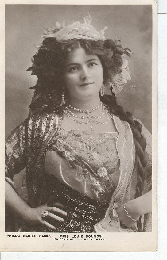 "Miss louie Pounds As Sonia in ""The Merry Pounds"" Postcard"