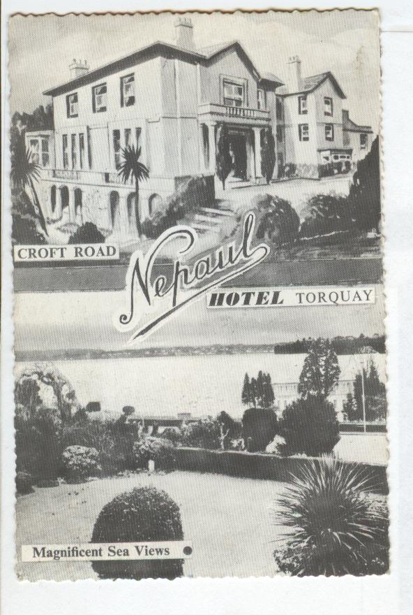 Hotel Torquay,Magnificent Sea Views Croft Road,England Postcard