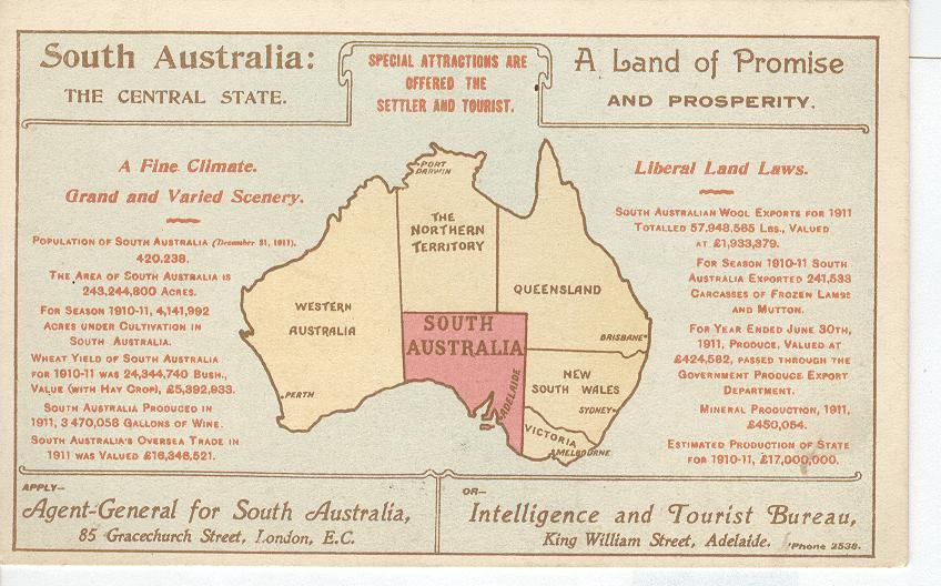 South Australia A Land of Promise and Prosperity...Map 1911