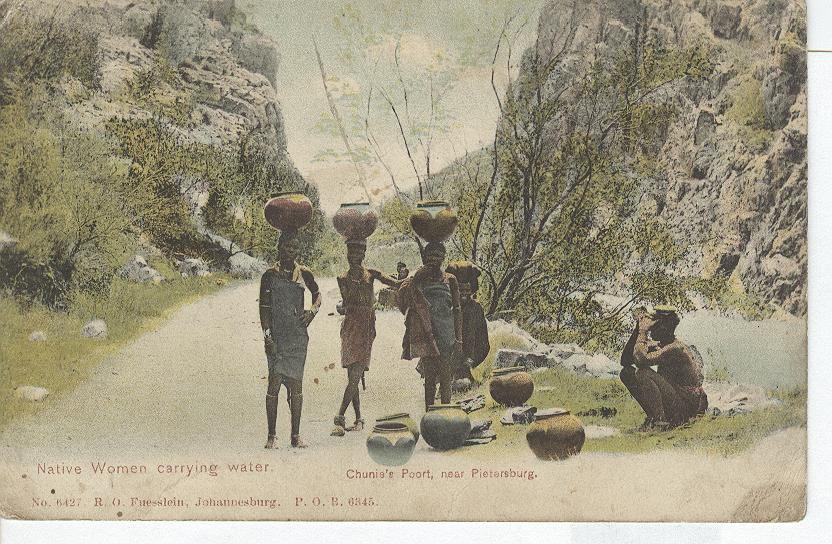 Native Women Carrying Water on Heads Chunie's Port