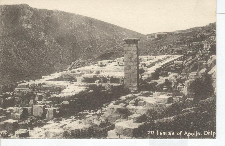 293 Temple of Apollo. Delp Greece