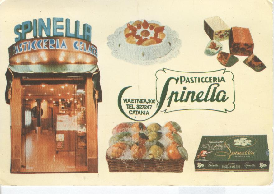 Pasticceria Spinella Catina Advertising Postcard