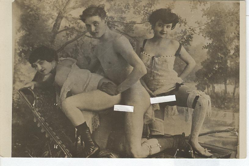 Vintage X Rated Two Girls and One Guy (covered) circa 1920