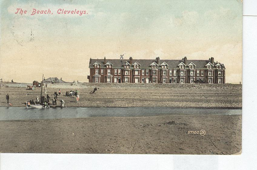 The Beach, Cleveleys...England...Hotel Postcard