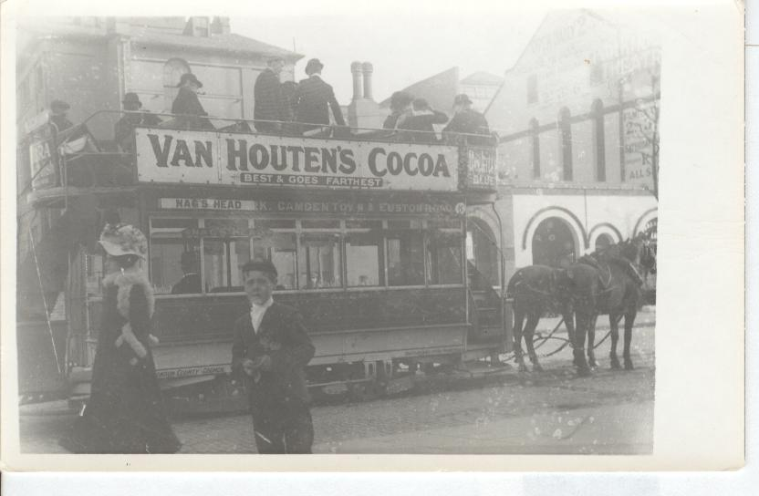 VAN HOUTEN'S COCOA...Best & Goes farthest. Advertising Postcard