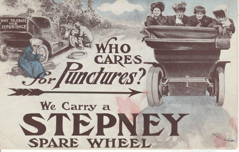 STEPHANY SPARE WHEEL, Advertising Postcard