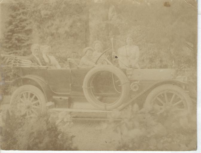Photo of Family in A Car