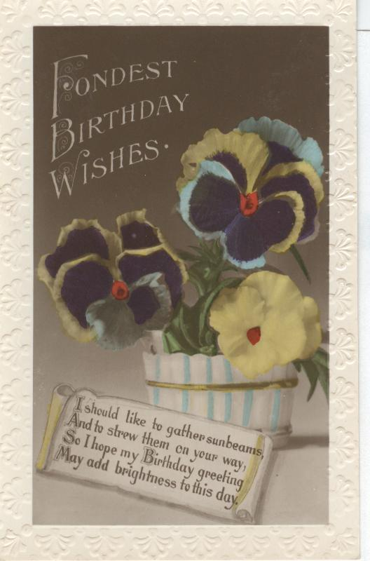 Fondest Birthday Wishes...I Should Like to Gather Sunbeams....