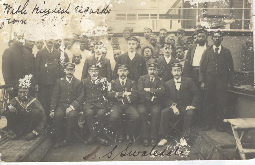 Crew From S.S. Swaledale...Very Rare...1904