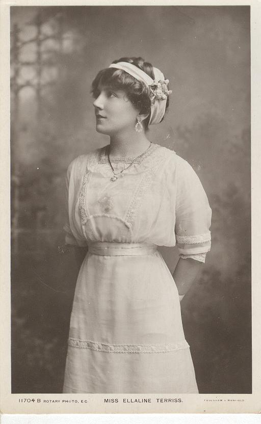 Miss Ellaline Terriss Peacfully Gazing A Far Postcard