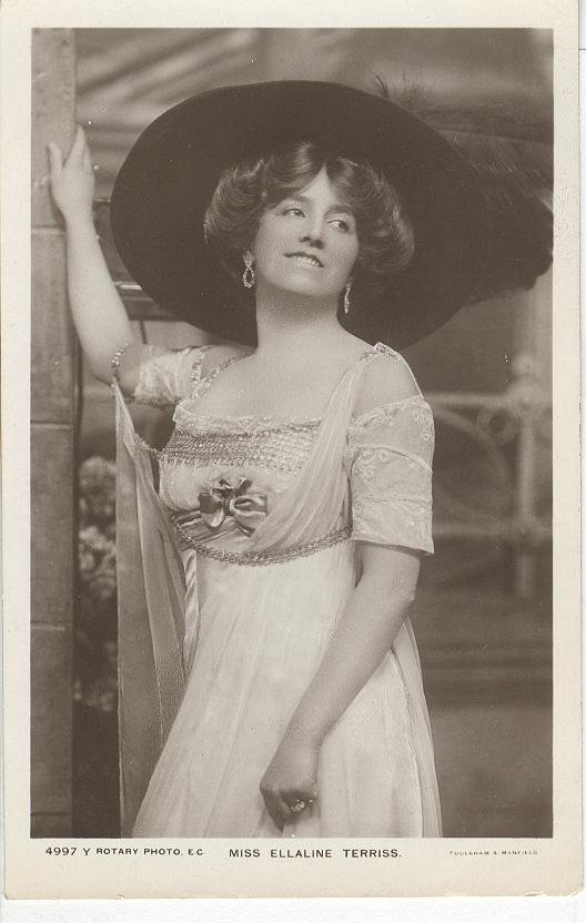 Miss Ellaline Terriss Wearing A Large Hat Postcard
