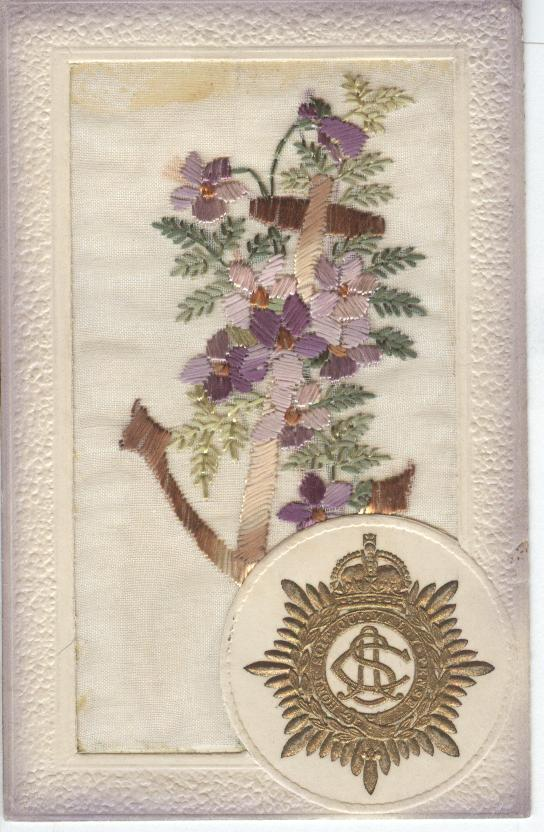 English Silk Postcard
