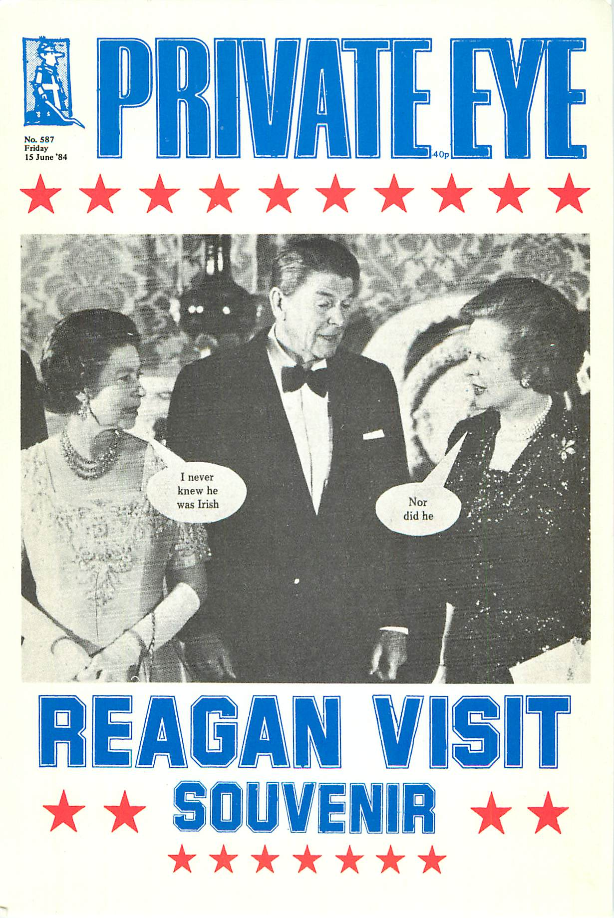 """Private Eye Reagan Visit"""