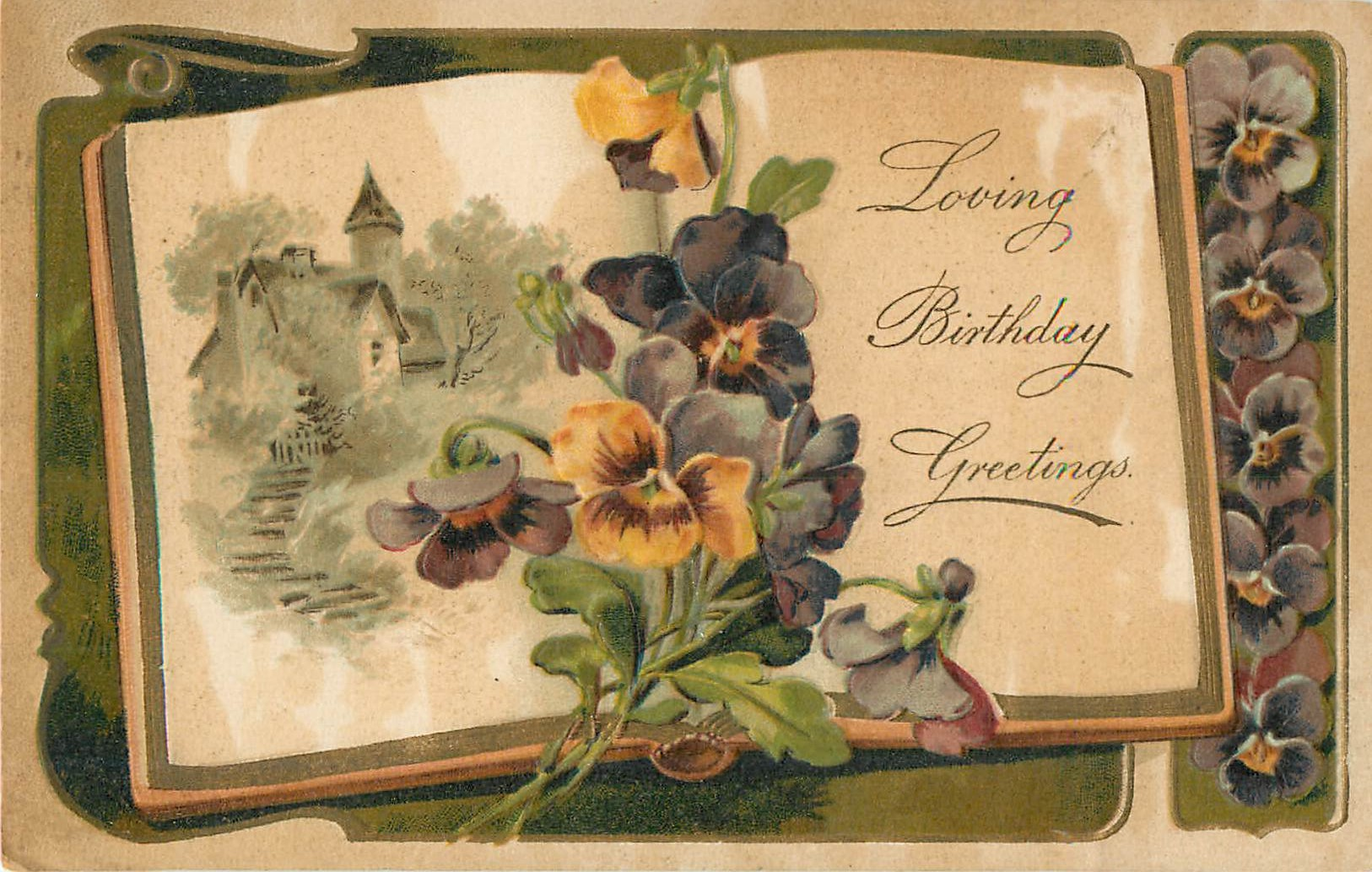Loving Birthday Greetings Pansy