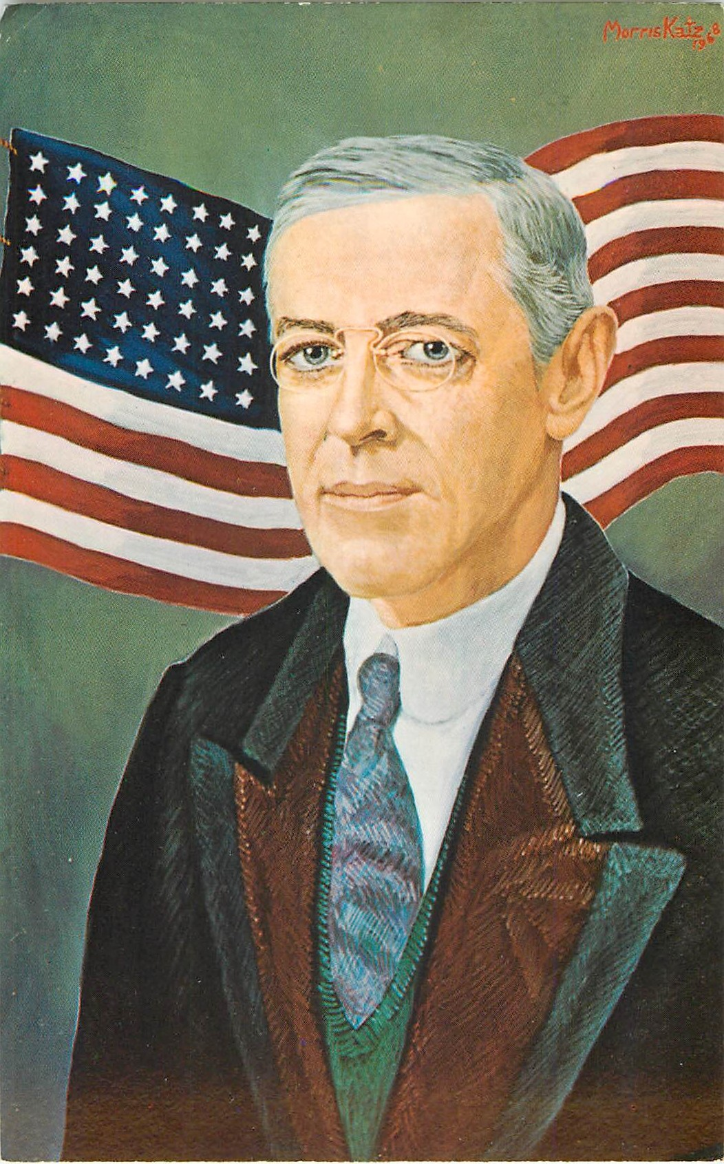 Woodrow Wilson - Painted by Morris Katz