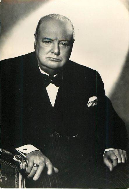 Sir Winston Spencer Churchill Postcard