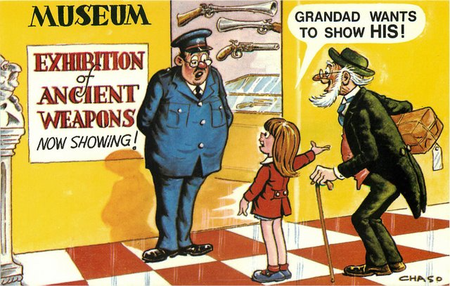 """Museum"" Bamforth Comic"