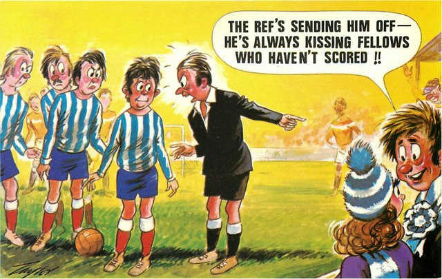 """Referee"" Bamforth Comic"