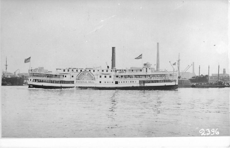 "Steamer ""Federal Hill"" 1888"
