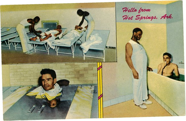 Black Americana Postcard - Hello from Hot Springs, Ark.